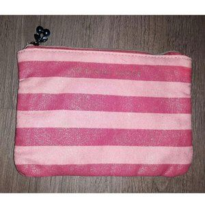 Victoria's Secret Pink Striped Shimmer Makeup Bag